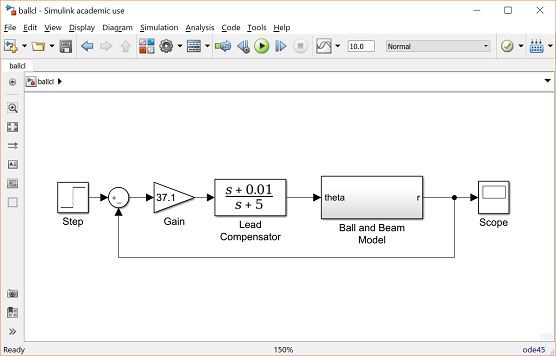 Control Tutorials for MATLAB and Simulink - Ball & Beam