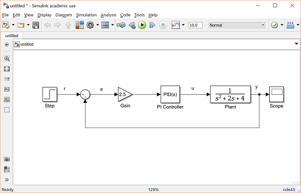 Control Tutorials For Matlab And Simulink Simulink Basics Tutorial