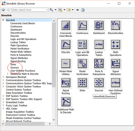 Control tutorials for matlab and simulink simulink basics tutorial this will bring up the sources block library sources are used to generate signals ccuart Images