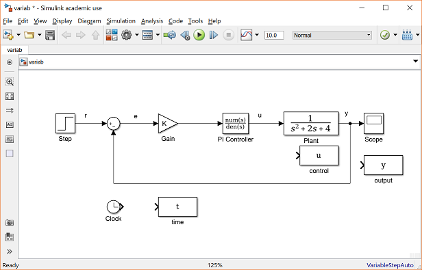 Control Tutorials for MATLAB and Simulink - Simulink Basics