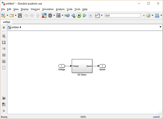 Control Tutorials for MATLAB and Simulink - Motor Speed: Simulink