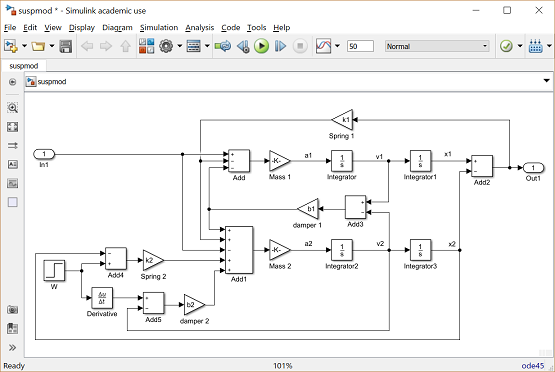 Control Tutorials for MATLAB and Simulink - Suspension: Simulink Control
