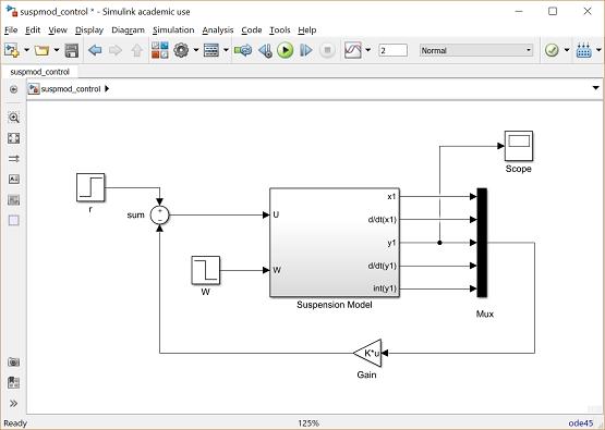 Control Tutorials for MATLAB and Simulink - Suspension: Simulink Control